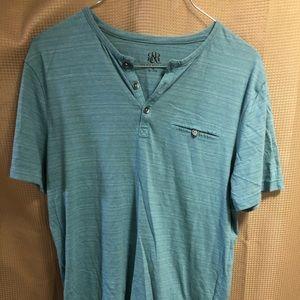 Young men teal short sleeve shirt